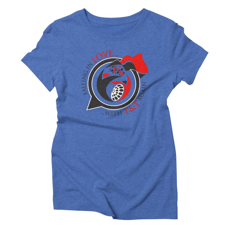 Fallin in Love with TT Round Logo 3 Women's Triblend T-Shirt by WACK 90.1fm Merchandise Store