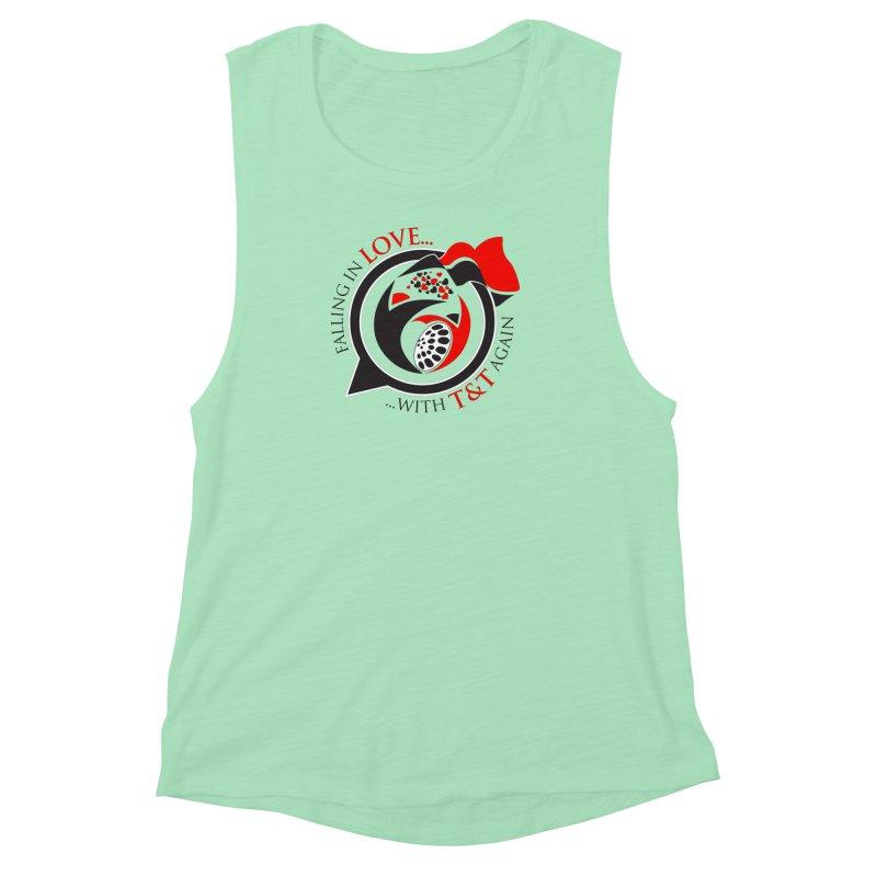 Fallin in Love with TT Round Logo 3 Women's Muscle Tank by WACK 90.1fm Merchandise Store