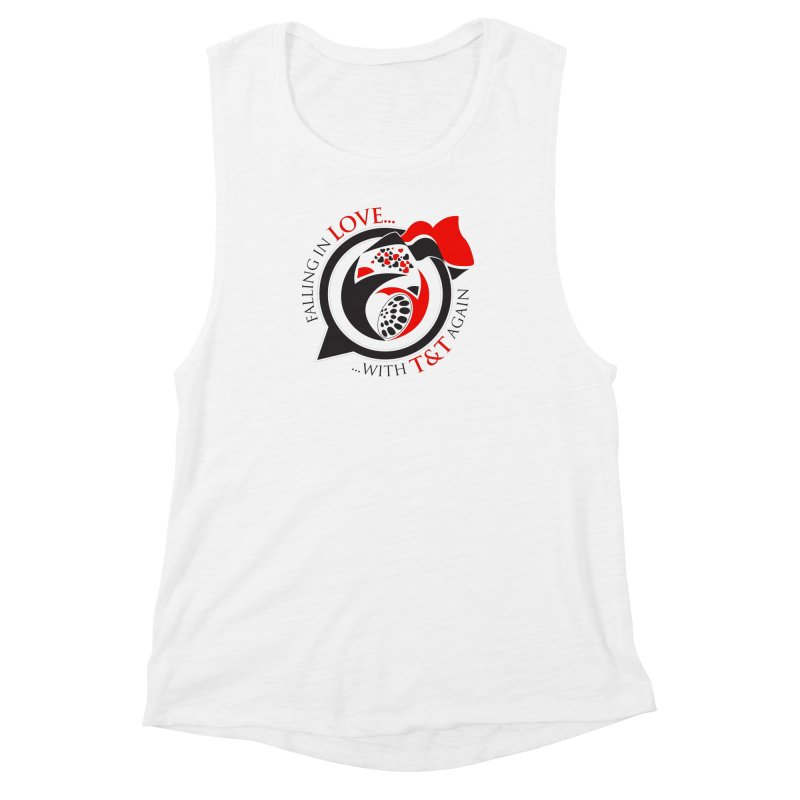 Fallin in Love with TT Round Logo 3 Women's Muscle Tank by WACK 90.1fm Merchandise Store