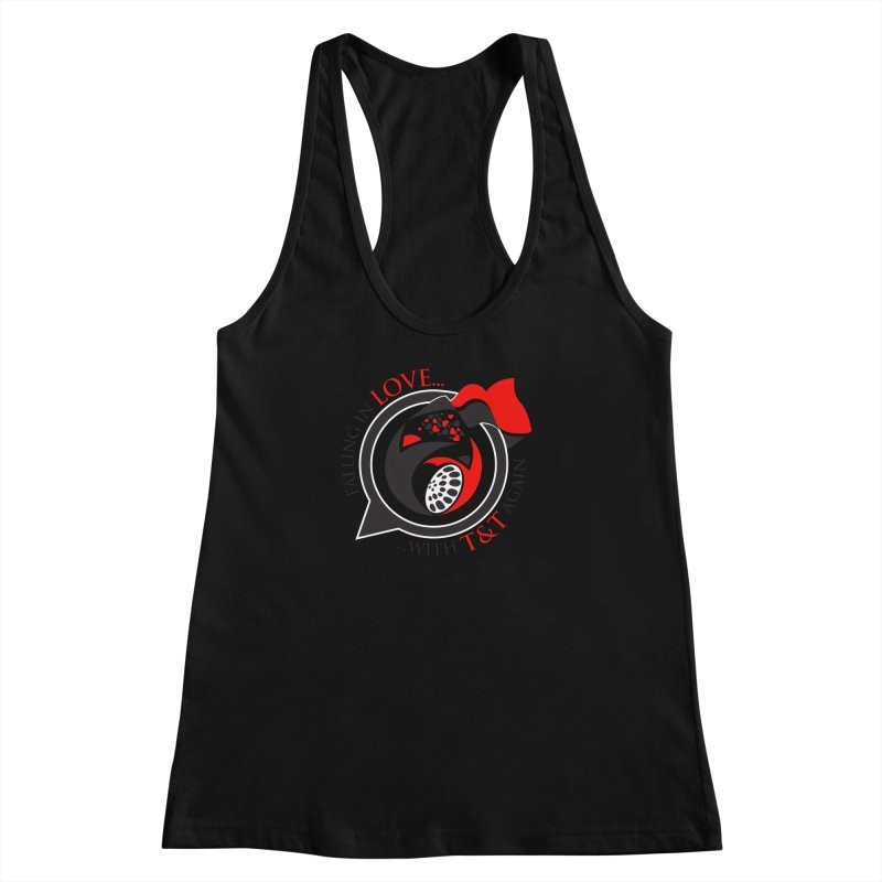 Fallin in Love with TT Round Logo 3 Women's Racerback Tank by WACK 90.1fm Merchandise Store