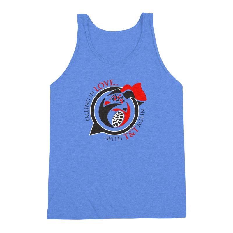 Fallin in Love with TT Round Logo 3 Men's Triblend Tank by WACK 90.1fm Merchandise Store