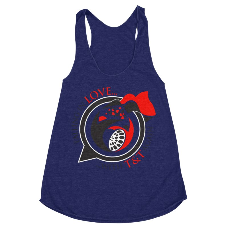 Fallin in Love with TT Round Logo 3 Women's Racerback Triblend Tank by WACK 90.1fm Merchandise Store