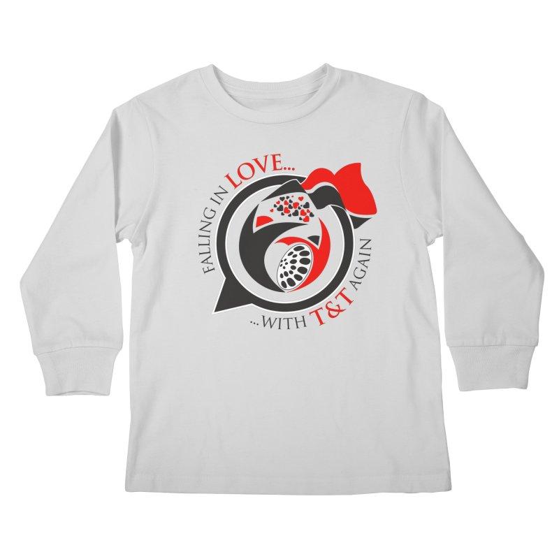 Fallin in Love with TT Round Logo 3 Kids Longsleeve T-Shirt by WACK 90.1fm Merchandise Store