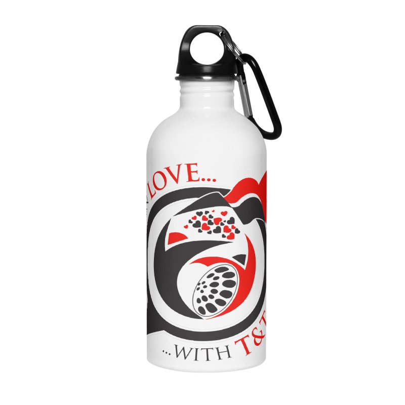 Fallin in Love with TT Round Logo 3 Accessories Water Bottle by WACK 90.1fm Merchandise Store