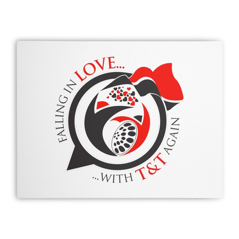 Fallin in Love with TT Round Logo 3 Home Stretched Canvas by WACK 90.1fm Merchandise Store