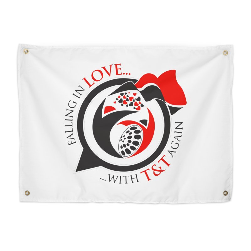 Fallin in Love with TT Round Logo 3 Home Tapestry by WACK 90.1fm Merchandise Store
