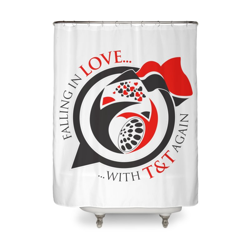 Fallin in Love with TT Round Logo 3 Home Shower Curtain by WACK 90.1fm Merchandise Store