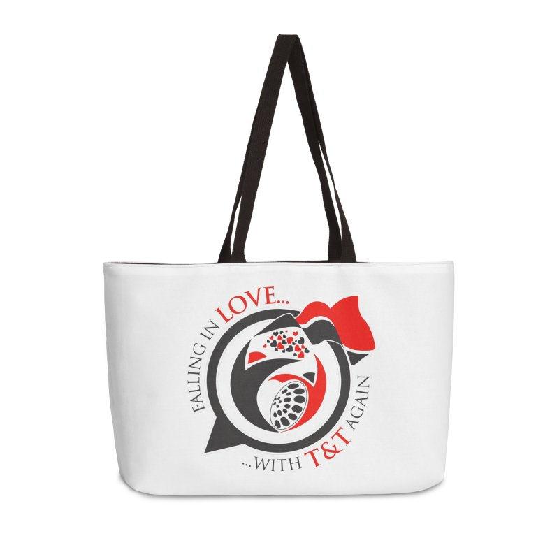 Fallin in Love with TT Round Logo 3 Accessories Weekender Bag Bag by WACK 90.1fm Merchandise Store