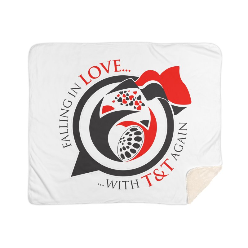 Fallin in Love with TT Round Logo 3 Home Blanket by WACK 90.1fm Merchandise Store