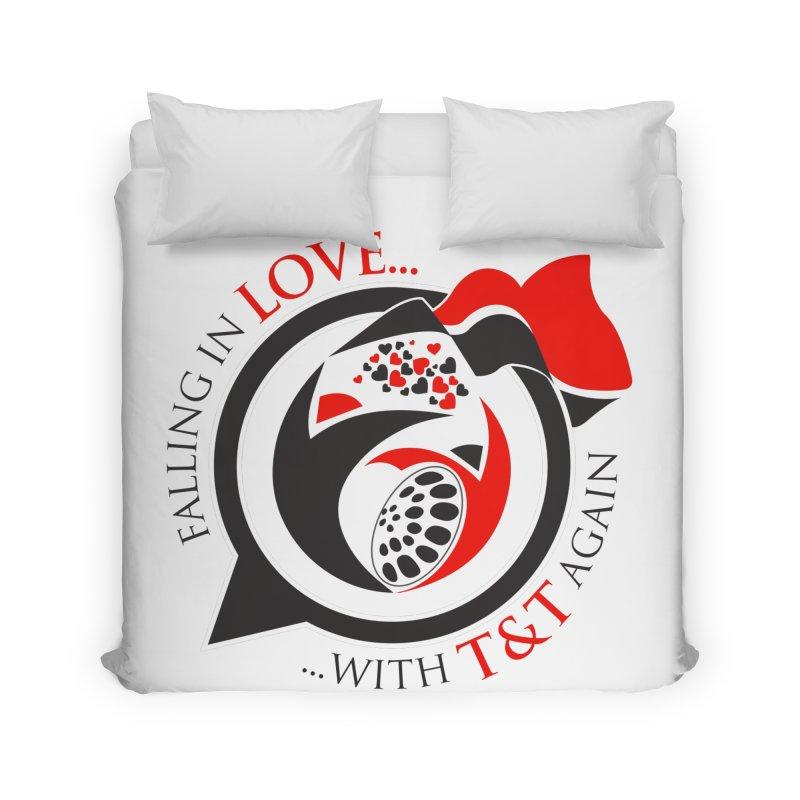 Fallin in Love with TT Round Logo 3 Home Duvet by WACK 90.1fm Merchandise Store
