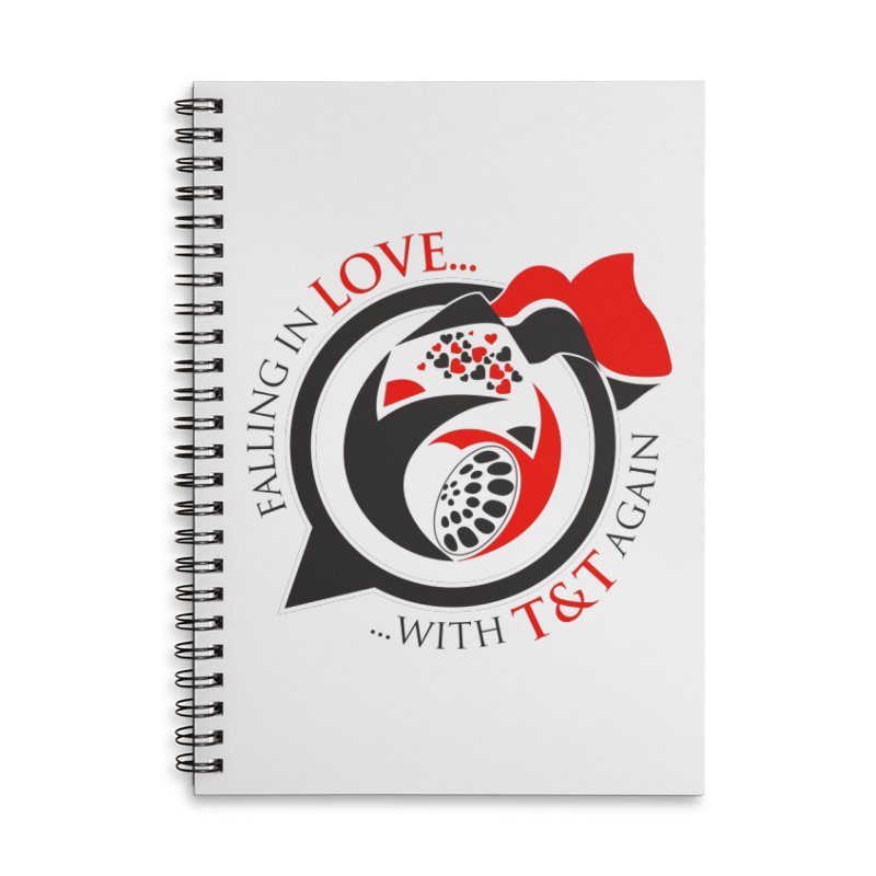 Fallin in Love with TT Round Logo 3 Accessories Lined Spiral Notebook by WACK 90.1fm Merchandise Store