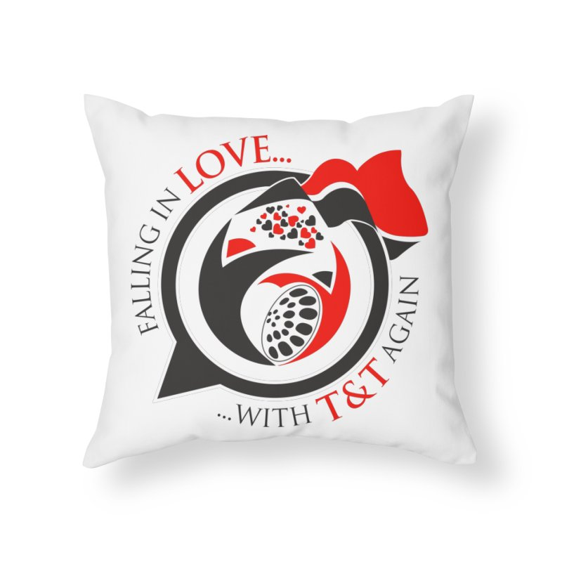 Fallin in Love with TT Round Logo 3 Home Throw Pillow by WACK 90.1fm Merchandise Store