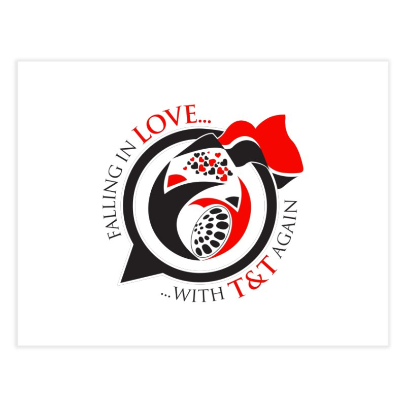 Fallin in Love with TT Round Logo 3 Home Fine Art Print by WACK 90.1fm Merchandise Store