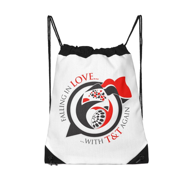 Fallin in Love with TT Round Logo 3 Accessories Drawstring Bag Bag by WACK 90.1fm Merchandise Store