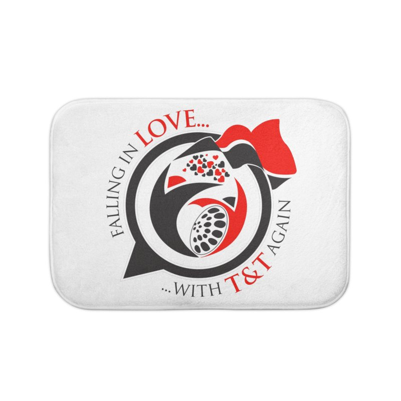 Fallin in Love with TT Round Logo 3 Home Bath Mat by WACK 90.1fm Merchandise Store
