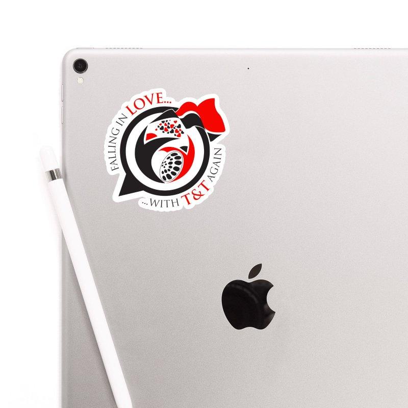 Fallin in Love with TT Round Logo 3 Accessories Sticker by WACK 90.1fm Merchandise Store