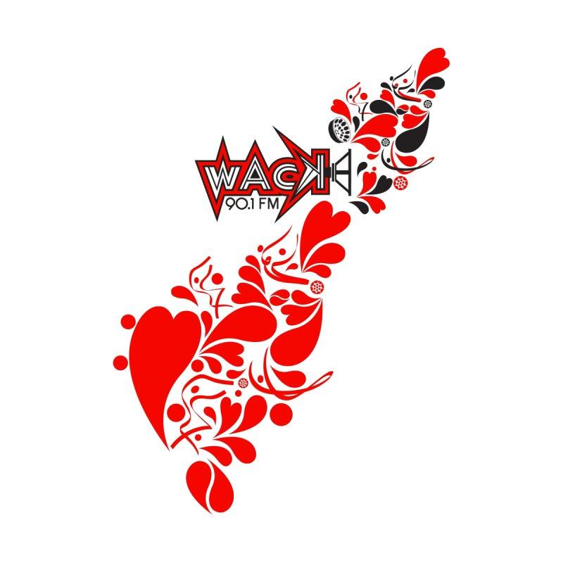 WACK 90.1fm Falling in Love - All Hearts and WACK Logo Men's Zip-Up Hoody by WACK 90.1fm Merchandise Store