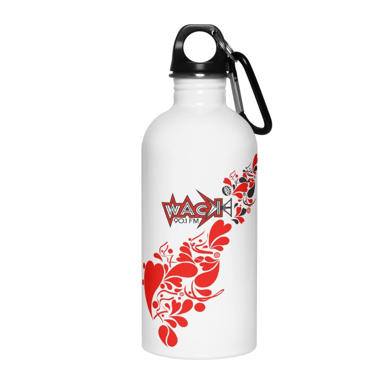 WACK 90.1fm Falling in Love - All Hearts and WACK Logo Accessories Water Bottle by WACK 90.1fm Merchandise Store