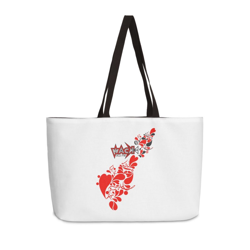 WACK 90.1fm Falling in Love - All Hearts and WACK Logo Accessories Bag by WACK 90.1fm Merchandise Store