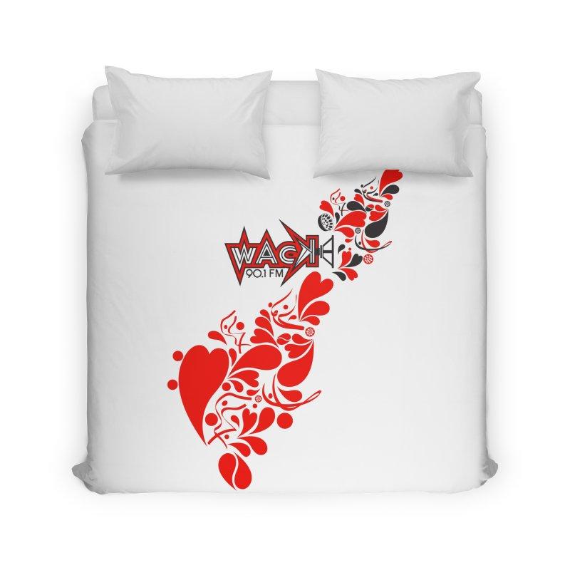WACK 90.1fm Falling in Love - All Hearts and WACK Logo Home Duvet by WACK 90.1fm Merchandise Store