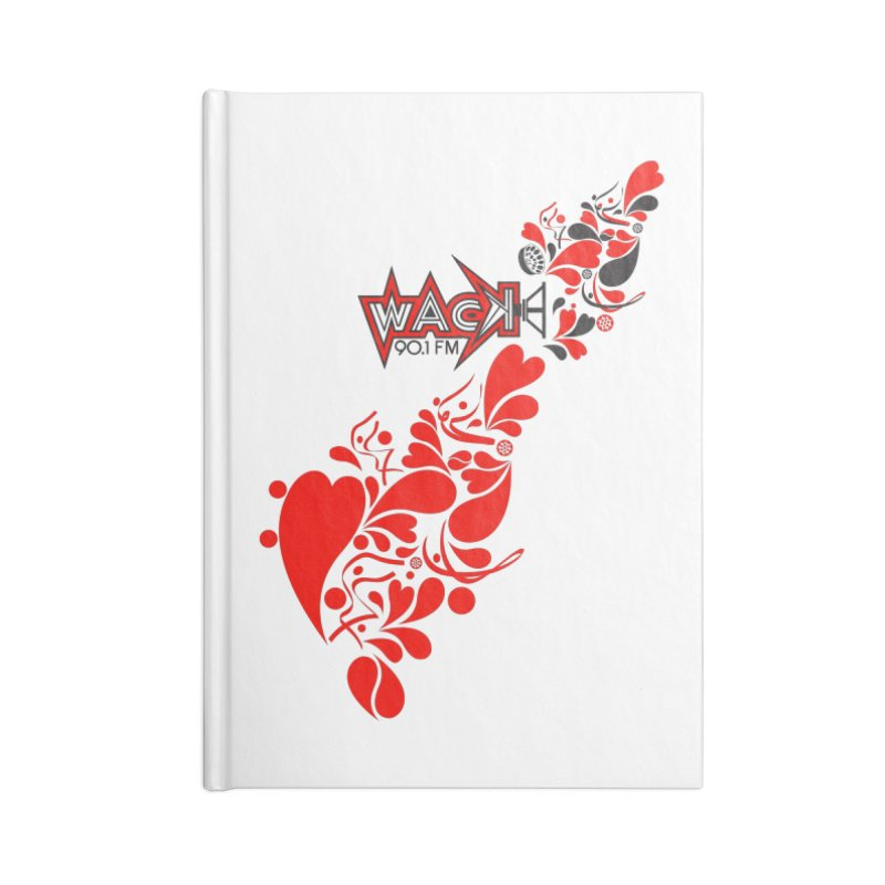 WACK 90.1fm Falling in Love - All Hearts and WACK Logo Accessories Notebook by WACK 90.1fm Merchandise Store
