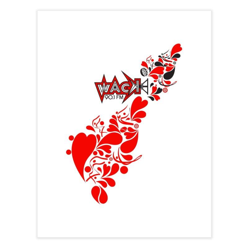 WACK 90.1fm Falling in Love - All Hearts and WACK Logo Home Fine Art Print by WACK 90.1fm Merchandise Store