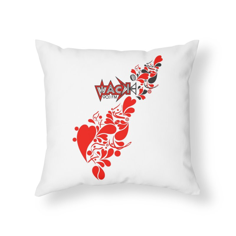 WACK 90.1fm Falling in Love - All Hearts and WACK Logo Home Throw Pillow by WACK 90.1fm Merchandise Store