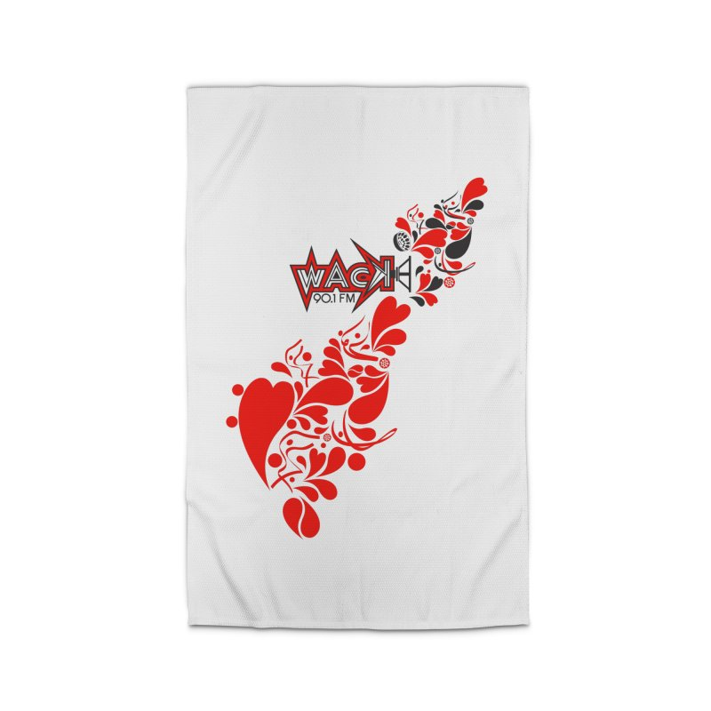 WACK 90.1fm Falling in Love - All Hearts and WACK Logo Home Rug by WACK 90.1fm Merchandise Store