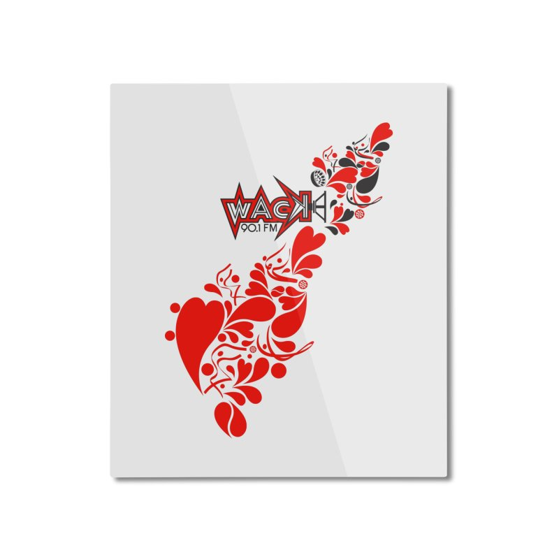 WACK 90.1fm Falling in Love - All Hearts and WACK Logo Home Mounted Aluminum Print by WACK 90.1fm Merchandise Store