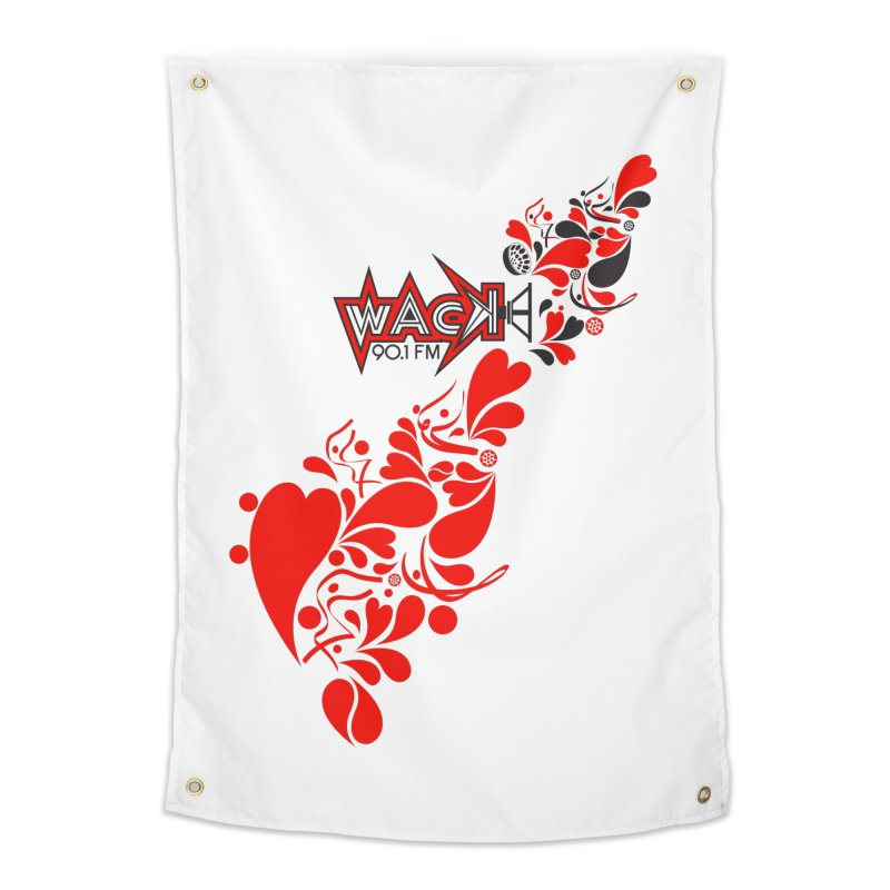 WACK 90.1fm Falling in Love - All Hearts and WACK Logo Home Tapestry by WACK 90.1fm Merchandise Store