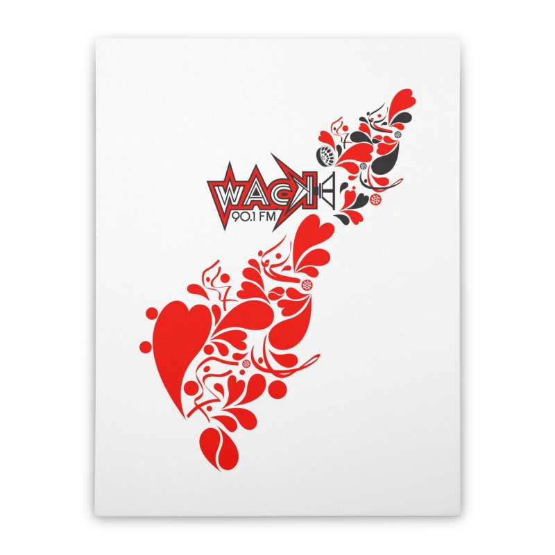 WACK 90.1fm Falling in Love - All Hearts and WACK Logo Home Stretched Canvas by WACK 90.1fm Merchandise Store