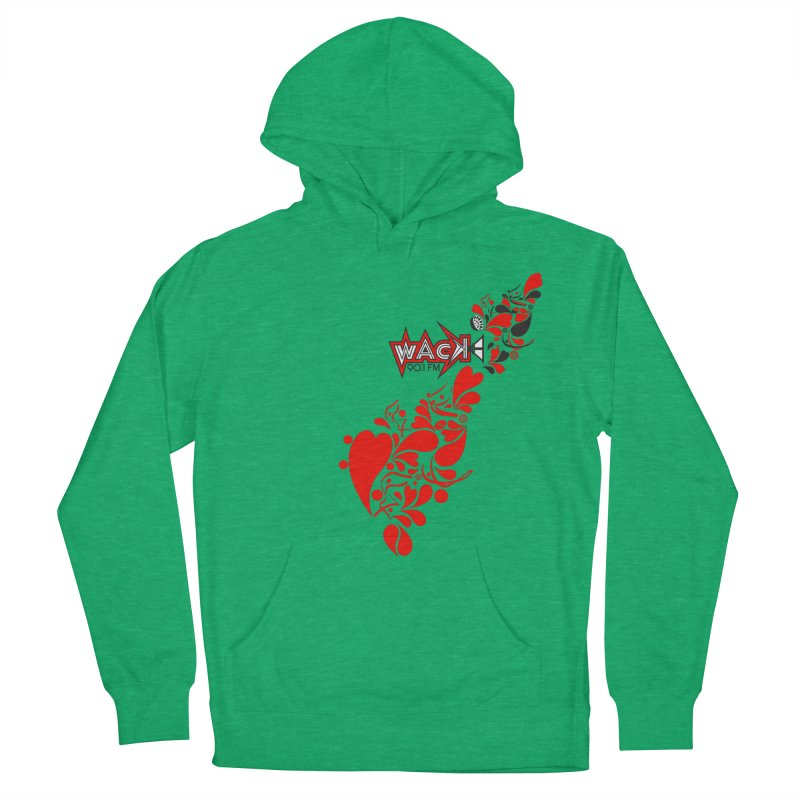 WACK 90.1fm Falling in Love - All Hearts and WACK Logo Women's Pullover Hoody by WACK 90.1fm Merchandise Store