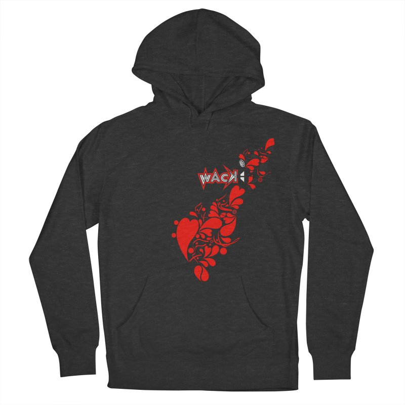 WACK 90.1fm Falling in Love - All Hearts and WACK Logo Women's French Terry Pullover Hoody by WACK 90.1fm Merchandise Store