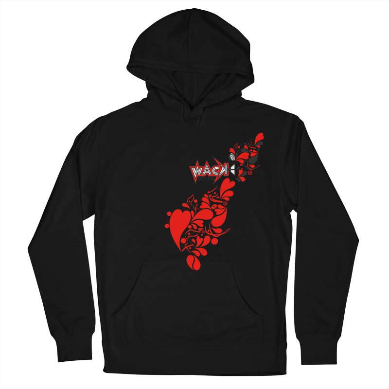WACK 90.1fm Falling in Love - All Hearts and WACK Logo Men's French Terry Pullover Hoody by WACK 90.1fm Merchandise Store