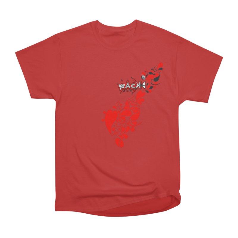 WACK 90.1fm Falling in Love - All Hearts and WACK Logo Men's Heavyweight T-Shirt by WACK 90.1fm Merchandise Store