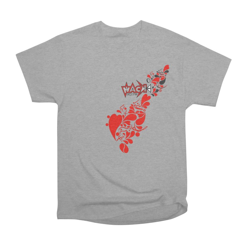 WACK 90.1fm Falling in Love - All Hearts and WACK Logo Men's Heavyweight T-Shirt by WACK 90.1fm Merchandise Store