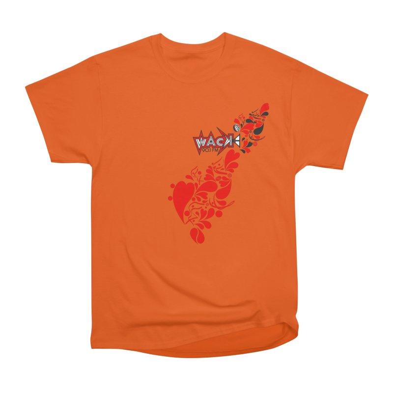 WACK 90.1fm Falling in Love - All Hearts and WACK Logo Women's Heavyweight Unisex T-Shirt by WACK 90.1fm Merchandise Store