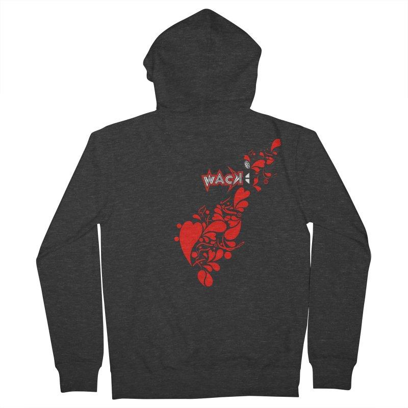 WACK 90.1fm Falling in Love - All Hearts and WACK Logo Women's Zip-Up Hoody by WACK 90.1fm Merchandise Store