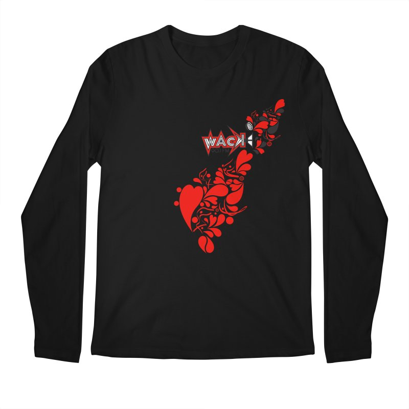 WACK 90.1fm Falling in Love - All Hearts and WACK Logo Men's Regular Longsleeve T-Shirt by WACK 90.1fm Merchandise Store