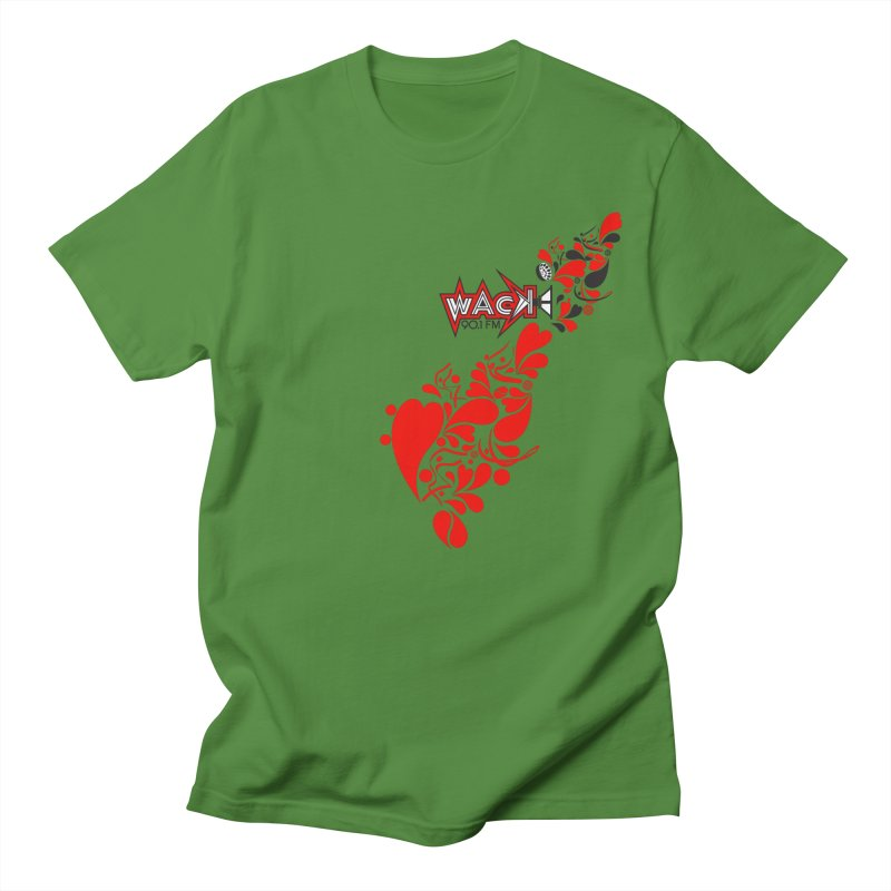 WACK 90.1fm Falling in Love - All Hearts and WACK Logo Women's Regular Unisex T-Shirt by WACK 90.1fm Merchandise Store