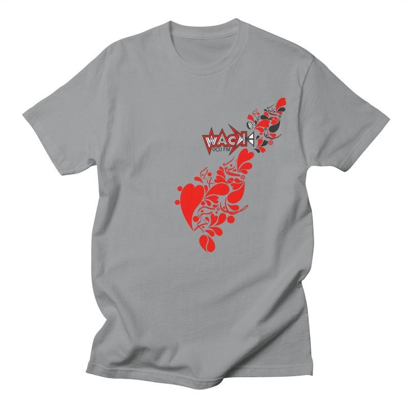 WACK 90.1fm Falling in Love - All Hearts and WACK Logo Women's Unisex T-Shirt by WACK 90.1fm Merchandise Store