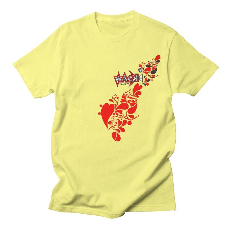 WACK 90.1fm Falling in Love - All Hearts and WACK Logo Women's Regular Unisex T-Shirt by WACK 90.1fm Merchandise Store
