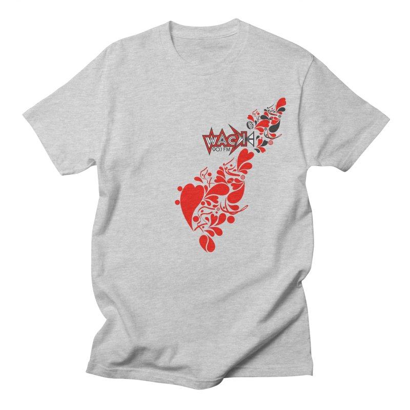 WACK 90.1fm Falling in Love - All Hearts and WACK Logo Men's Regular T-Shirt by WACK 90.1fm Merchandise Store
