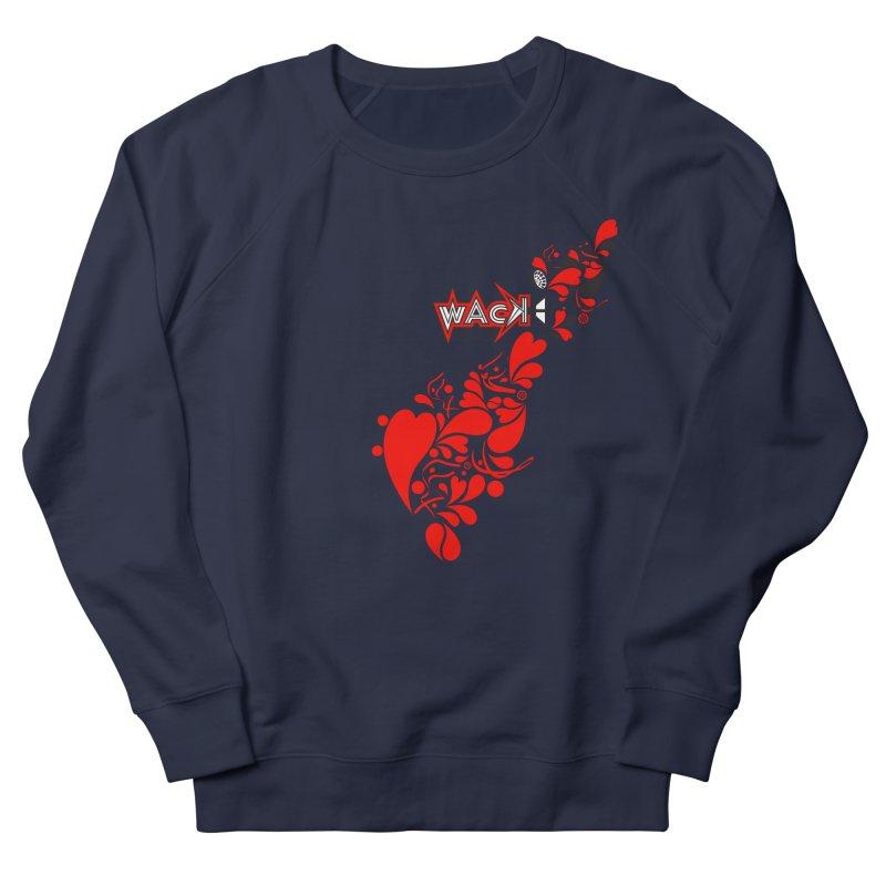 WACK 90.1fm Falling in Love - All Hearts and WACK Logo Women's French Terry Sweatshirt by WACK 90.1fm Merchandise Store