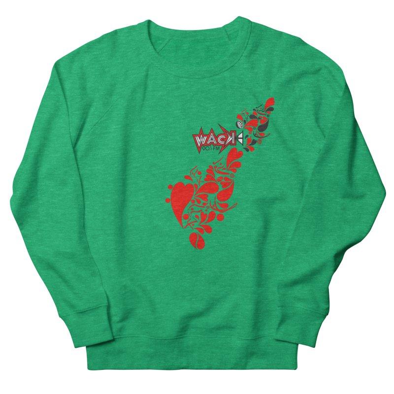 WACK 90.1fm Falling in Love - All Hearts and WACK Logo Men's Sweatshirt by WACK 90.1fm Merchandise Store