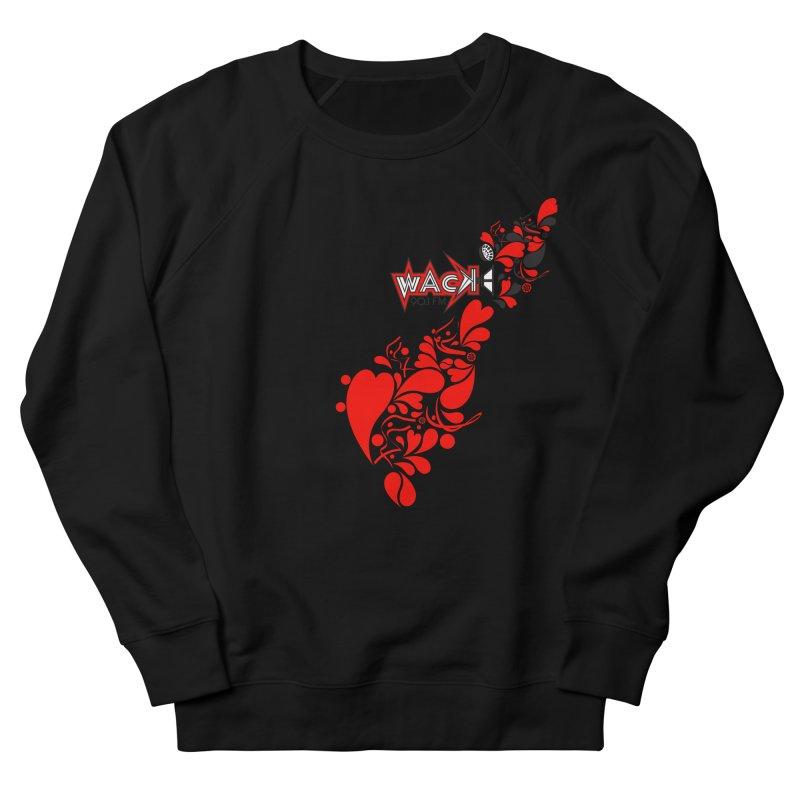 WACK 90.1fm Falling in Love - All Hearts and WACK Logo Men's French Terry Sweatshirt by WACK 90.1fm Merchandise Store