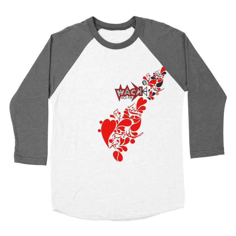 WACK 90.1fm Falling in Love - All Hearts and WACK Logo Women's Baseball Triblend Longsleeve T-Shirt by WACK 90.1fm Merchandise Store