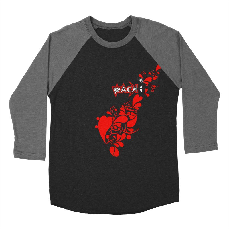 WACK 90.1fm Falling in Love - All Hearts and WACK Logo Women's Baseball Triblend Longsleeve T-Shirt by WACK 90.1fm Merchandise Store