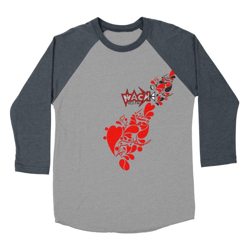 WACK 90.1fm Falling in Love - All Hearts and WACK Logo Women's Baseball Triblend T-Shirt by WACK 90.1fm Merchandise Store