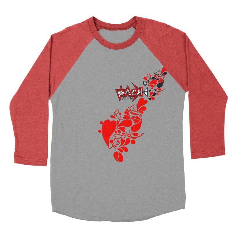 WACK 90.1fm Falling in Love - All Hearts and WACK Logo Men's Baseball Triblend Longsleeve T-Shirt by WACK 90.1fm Merchandise Store